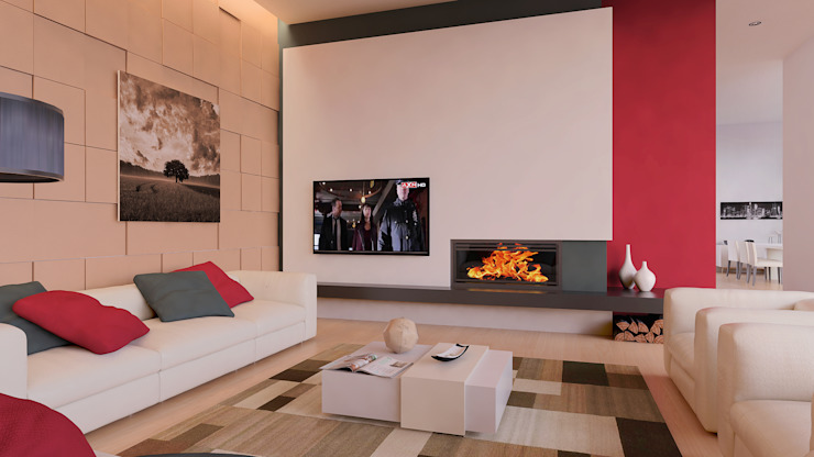 Interior | Living Room Salas de estar modernas por Creative Architecture Visualization Moderno