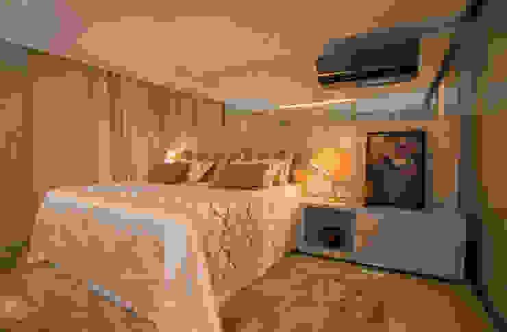 Apartamento Integrado Quartos modernos por EL ARQUITETURA E INTERIORES Moderno