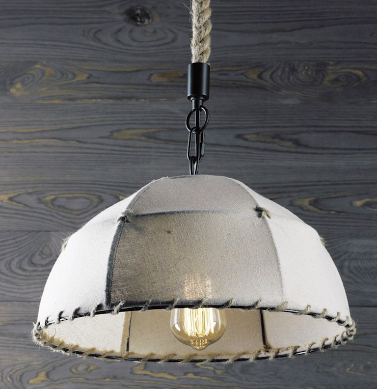ECO UMBRELLA – LAMPA WISZĄCA od Altavola Design Sp. z o.o. Nowoczesny Len Różowy