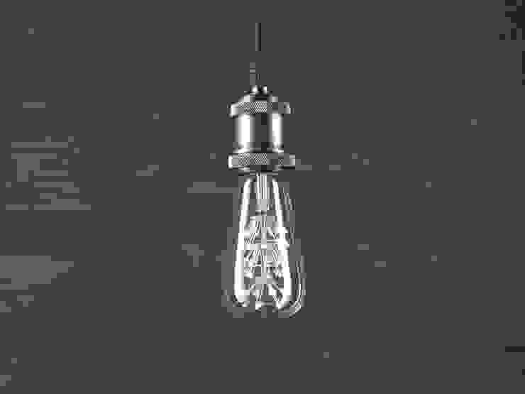 INDUSTRIAL CHIC LED – LAMPA WISZĄCA od Altavola Design Sp. z o.o. Industrialny Miedź/Brąz/Mosiądz