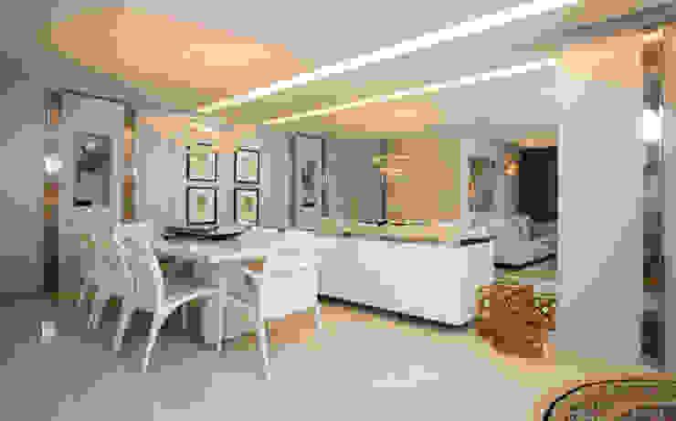 Apartamento Integrado Salas de jantar modernas por EL ARQUITETURA E INTERIORES Moderno