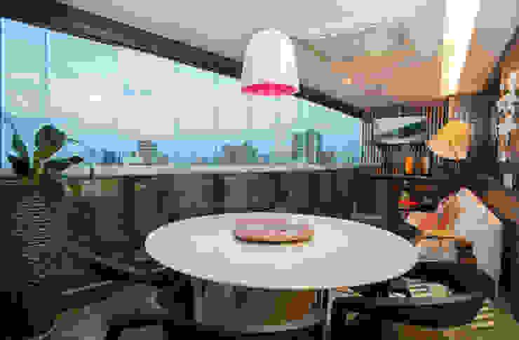Apartamento Integrado Varandas, alpendres e terraços modernos por EL ARQUITETURA E INTERIORES Moderno
