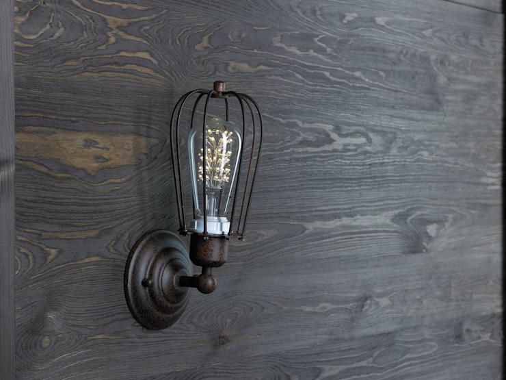 KOPENHAGEN LOFT RUSTY KINKIET LED od Altavola Design Sp. z o.o. Industrialny Matal