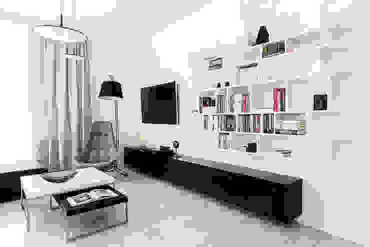 Salon moderne par Anna Maria Sokołowska Architektura Wnętrz Moderne