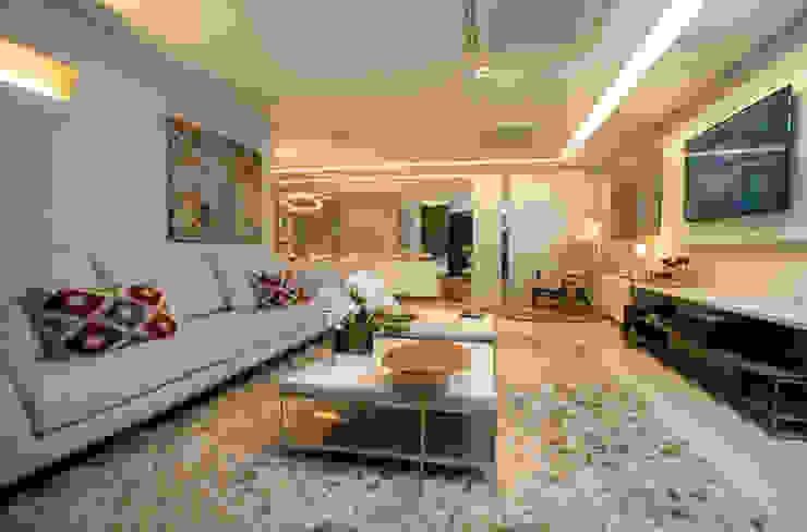 Apartamento Integrado Salas de estar modernas por EL ARQUITETURA E INTERIORES Moderno