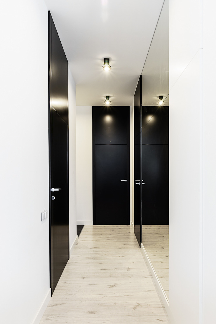 Couloir, entrée, escaliers modernes par Anna Maria Sokołowska Architektura Wnętrz Moderne