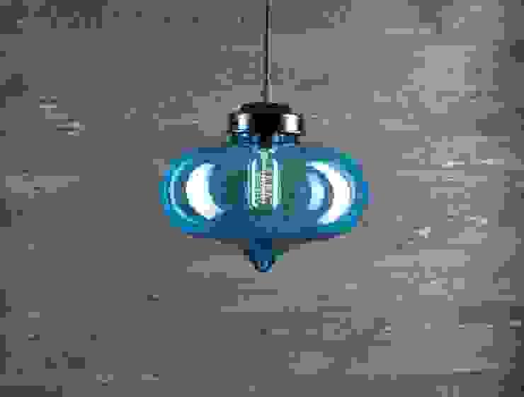 LONDON LOFT NO. 1BL – LAMPA WISZĄCA od Altavola Design Sp. z o.o. Nowoczesny Szkło
