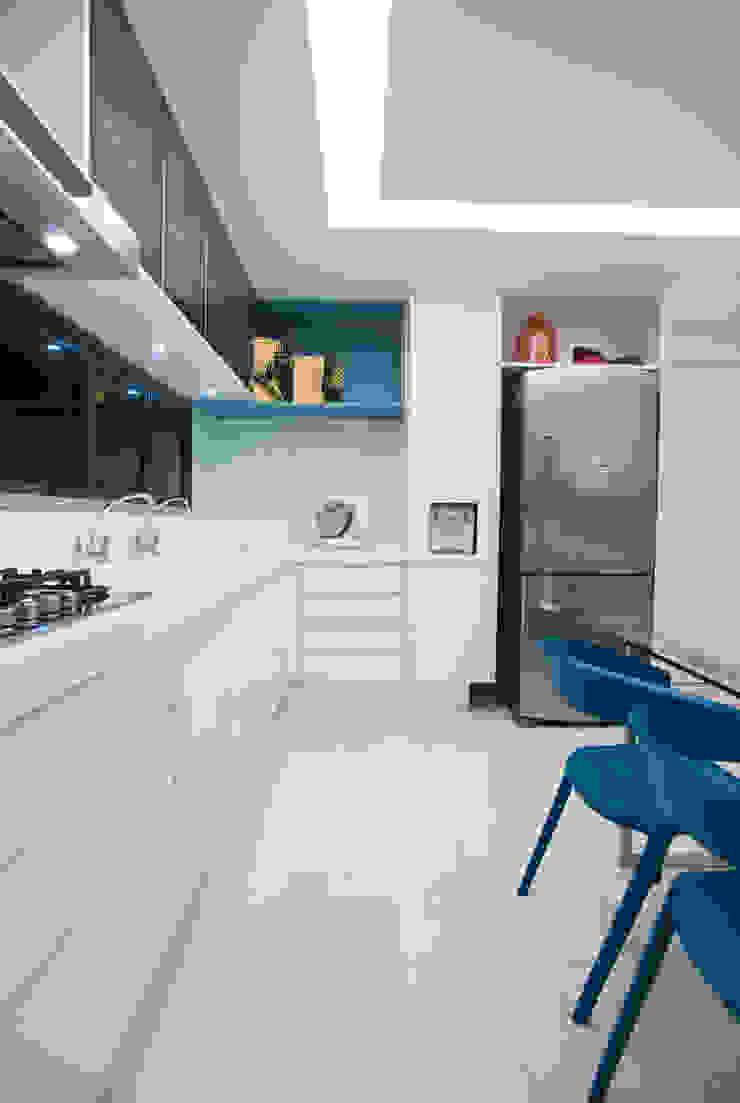 Apartamento Integrado Cozinhas modernas por EL ARQUITETURA E INTERIORES Moderno
