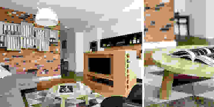 Livings de estilo industrial de Anna Maria Sokołowska Architektura Wnętrz Industrial
