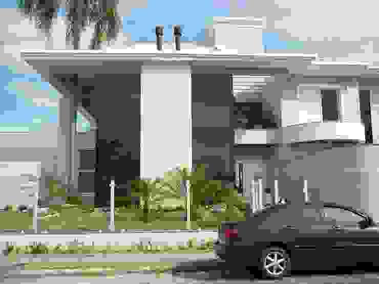 Casas de estilo clásico de ANNA MAYA ARQUITETURA E ARTE Clásico Vidrio