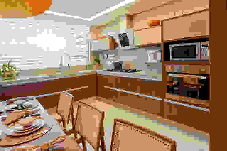 Apartamento Asa Sul Brasília 2013 Cozinhas modernas por Elaine Vercosa Moderno