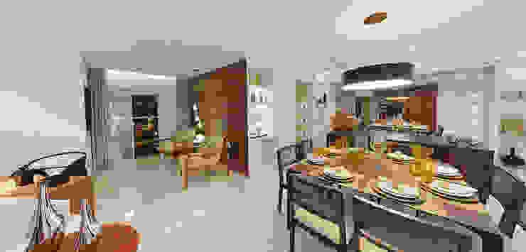Maison Brodeaux Salas de jantar modernas por Aline Dinis Arquitetura de Interiores Moderno