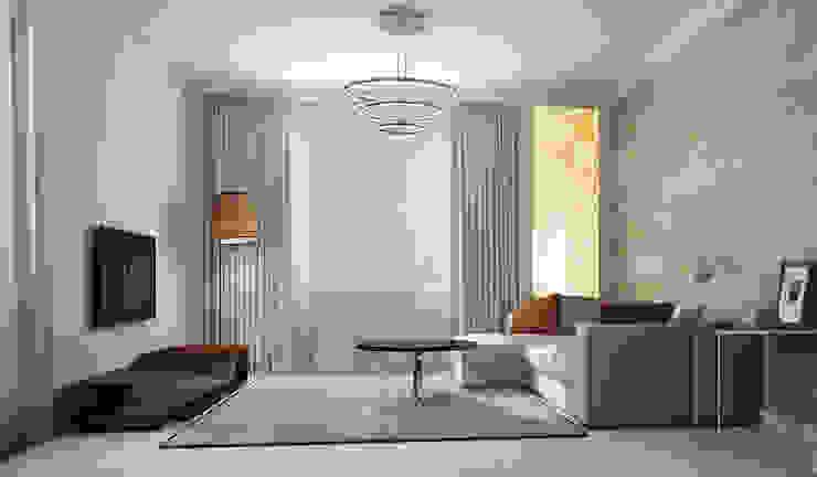 Гостиная Гостиная в стиле минимализм от Альбина Романова Минимализм
