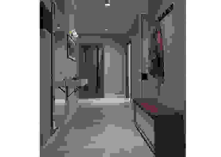 Прихожая Коридор, прихожая и лестница в стиле минимализм от Альбина Романова Минимализм