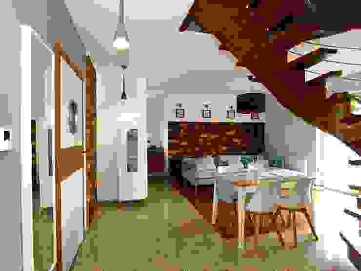 Panele ścienne klepka Mozaika drewniana od Atelier Projekt UmM Rustykalny Drewno O efekcie drewna