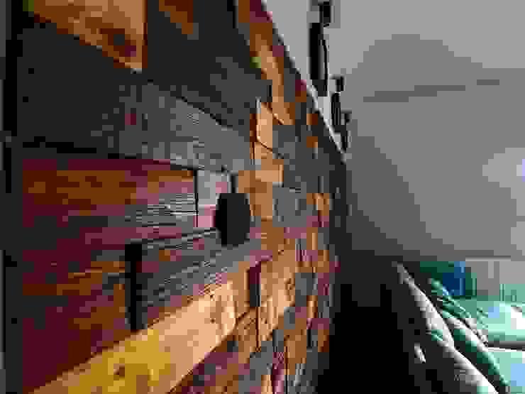 Panele ścienne klepka Mozaika drewniana: styl , w kategorii  zaprojektowany przez Atelier Projekt UmM,Rustykalny Drewno O efekcie drewna