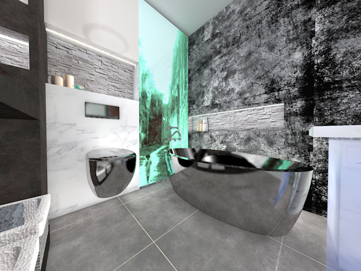 Nowa Droga W Standardach Moderne Badezimmer Grau