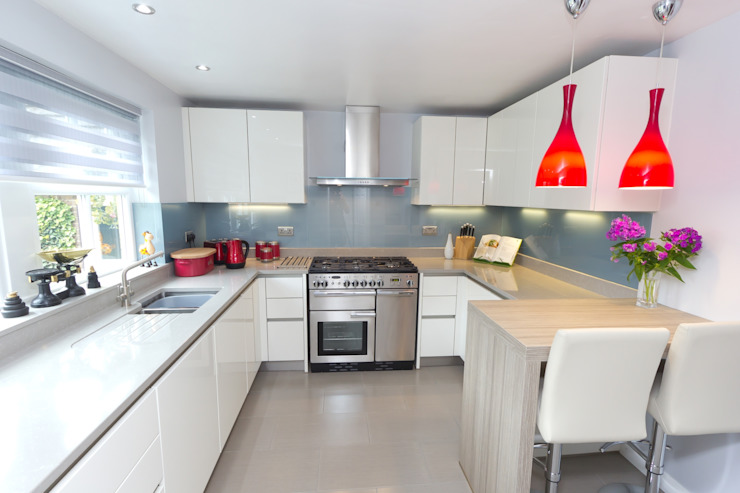 Contemporary Kitchen in Huddersfield at Bradley Cozinhas modernas por Twenty 5 Design Moderno