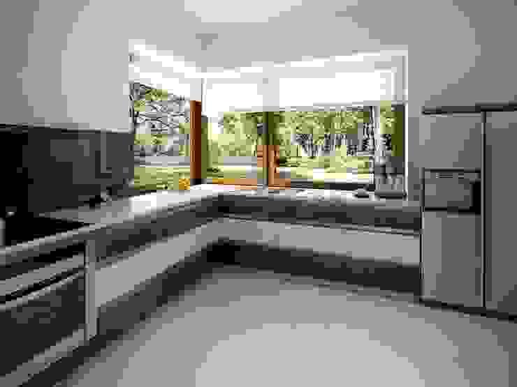Cucina moderna di Biuro Projektów MTM Styl - domywstylu.pl Moderno