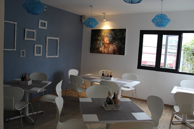 Restaurante-Bar Paredes y pisos de estilo moderno de Wooden Moderno