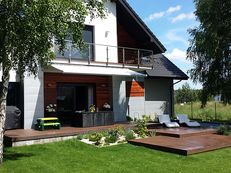Jardines de estilo moderno de Biuro Projektów MTM Styl - domywstylu.pl Moderno