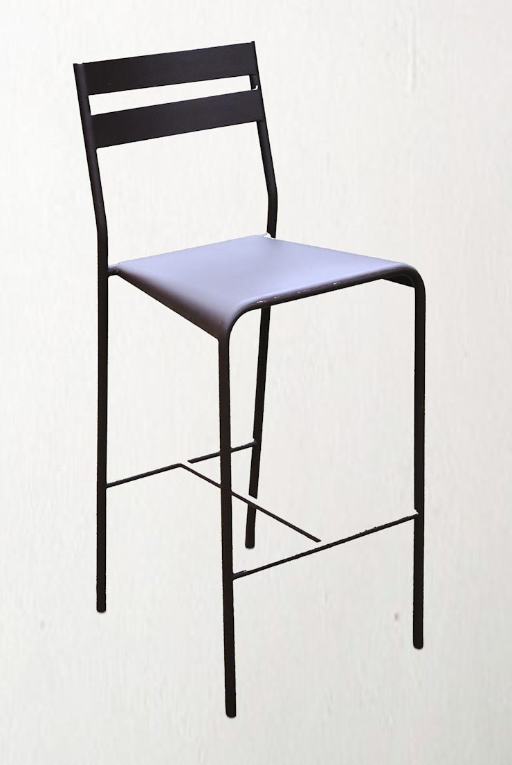 Fermob - designer Patrick Jouin, chaise de bar modèle Facto Collector Chic CuisineTables, chaises & bancs Métal Gris