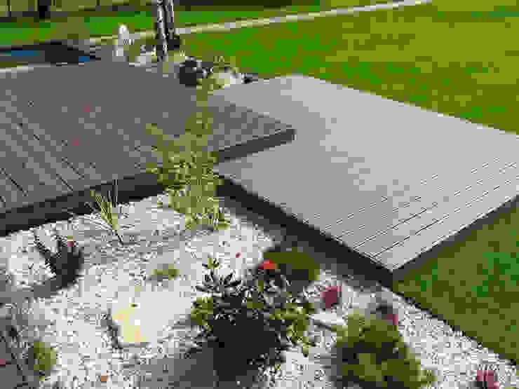 Jardines de estilo  por Biuro Projektów MTM Styl - domywstylu.pl,