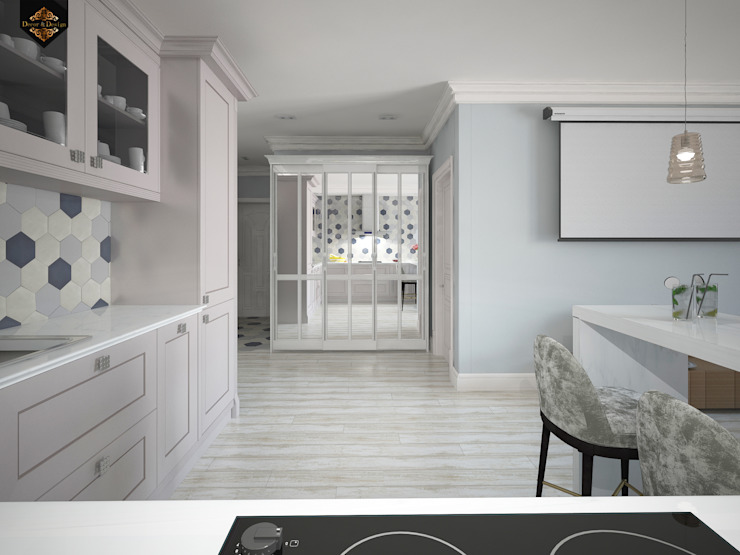 Современная классика / Двухкомнатная квартира в Казани по ул. Восстания Гостиные в эклектичном стиле от Decor&Design Эклектичный