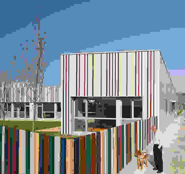 Nursery School, Zarautz. Façade Ignacio Quemada Arquitectos Modern houses Aluminium/Zinc Multicolored