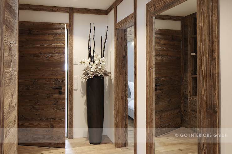 Rustic style corridor, hallway & stairs by homify Rustic