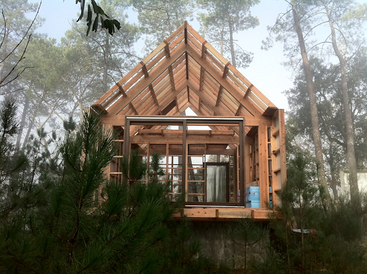 rustic  by NORMA | Nova Arquitectura em Madeira (New Architecture in Wood), Rustic
