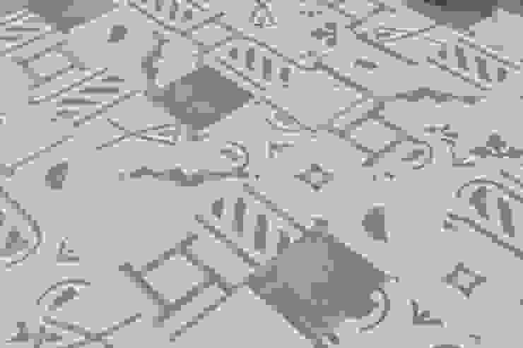 Patchwork cementine - bianco & verde Pareti & Pavimenti in stile moderno di Romano pavimenti Moderno Piastrelle