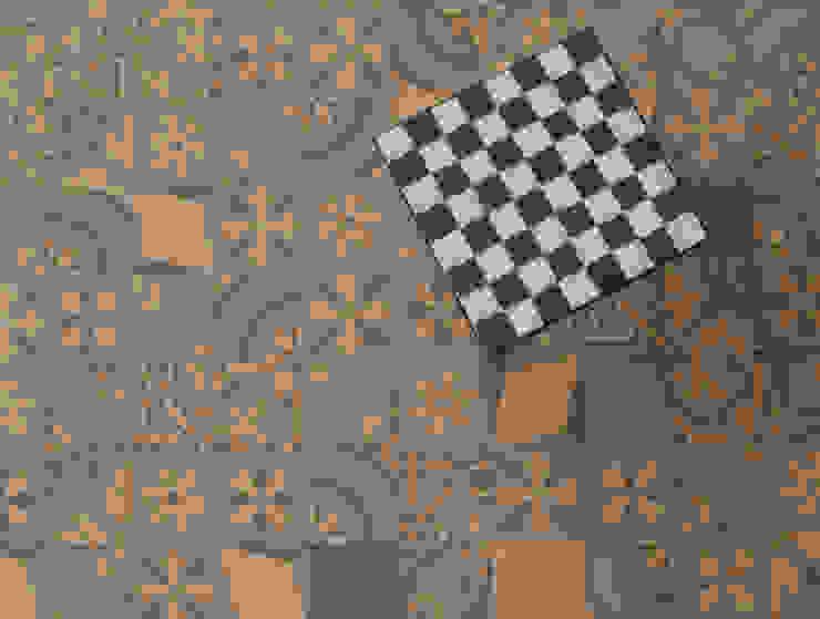Patchwork cementine - grigio&giallo Pareti & Pavimenti eclettiche di Romano pavimenti Eclettico Piastrelle