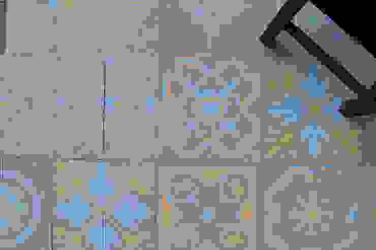 Patchwork cementine - schema a 4 Pareti & Pavimenti eclettiche di Romano pavimenti Eclettico Piastrelle