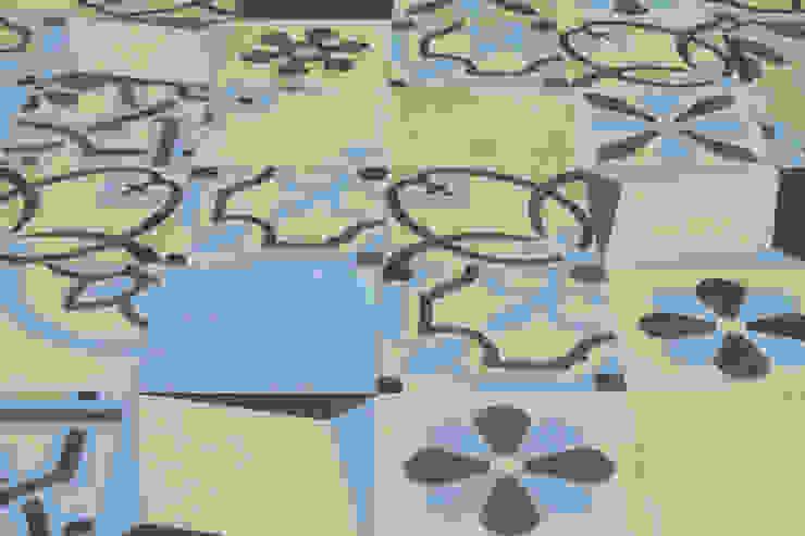 Patchwork cementine Pareti & Pavimenti in stile moderno di Romano pavimenti Moderno Piastrelle