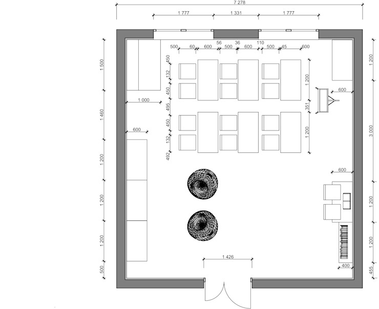 План расстановки мебели от Мастерская Дизайна