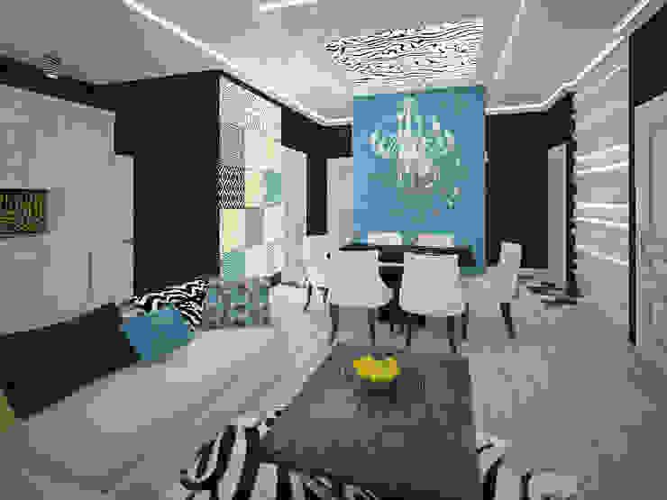 изысканный фьюжн Гостиные в эклектичном стиле от Decor&Design Эклектичный