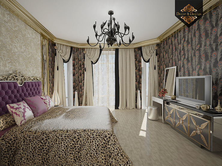 леопард – тренд 2016 Спальня в эклектичном стиле от Decor&Design Эклектичный