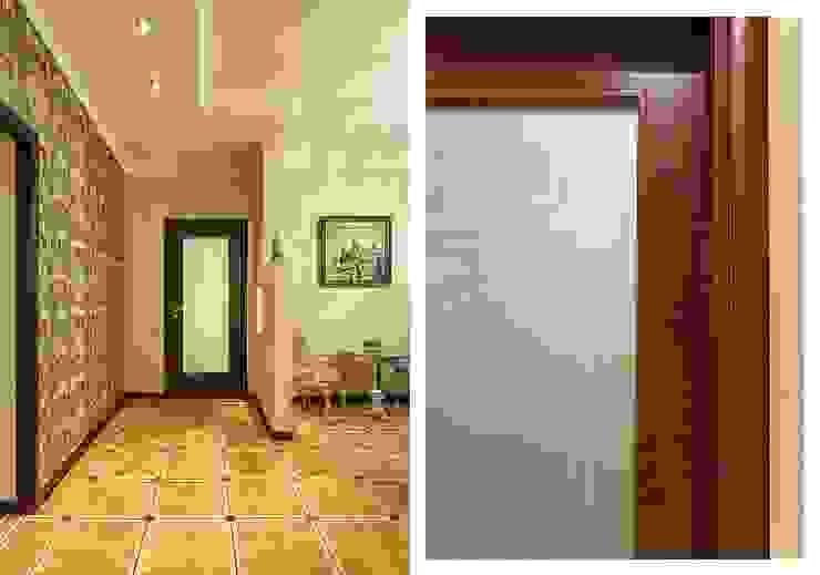 Квартира с архитектурной темой Коридор, прихожая и лестница в классическом стиле от Ольга Макарова (Экодизайн) Классический