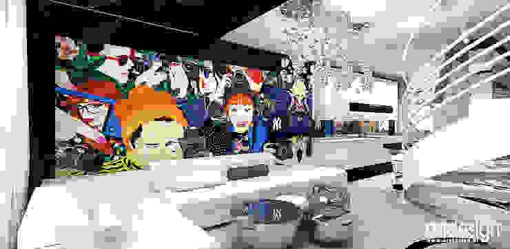 nowoczesny salon Nowoczesny salon od ARTDESIGN architektura wnętrz Nowoczesny