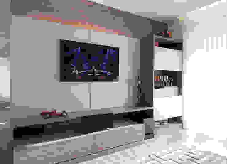 Apartamento Morumbi Salas multimídia clássicas por Figoli-Ravecca Arquitetos Associados Clássico