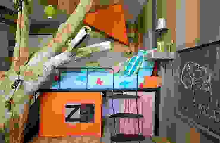 Lit pour enfant avec cabane intégré par Frédéric TABARY Éclectique Bois Effet bois