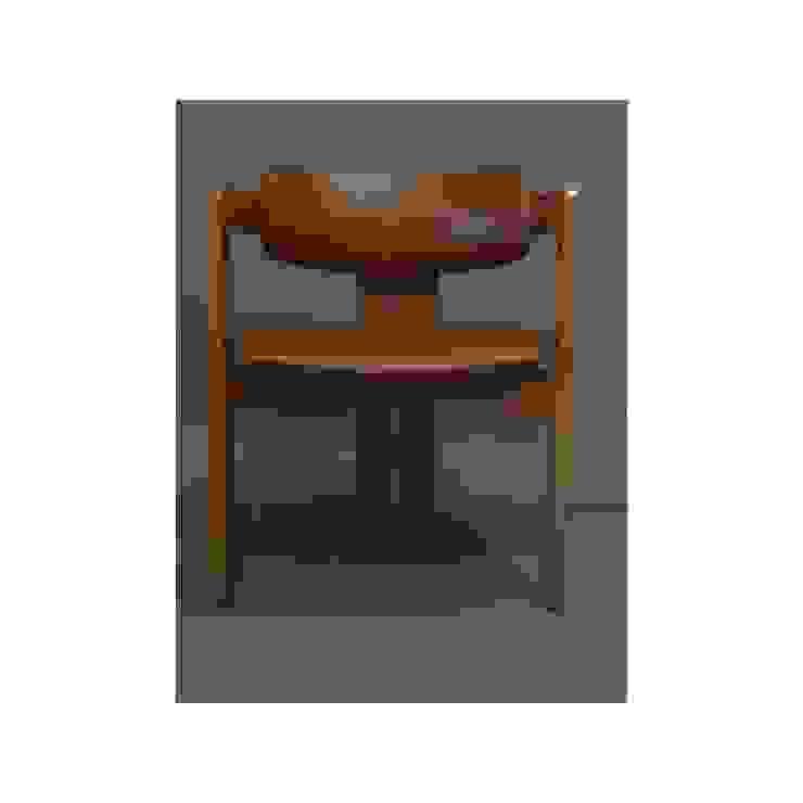 Bahaus - fauteuil en cuir tripode Collector Chic BureauTabourets