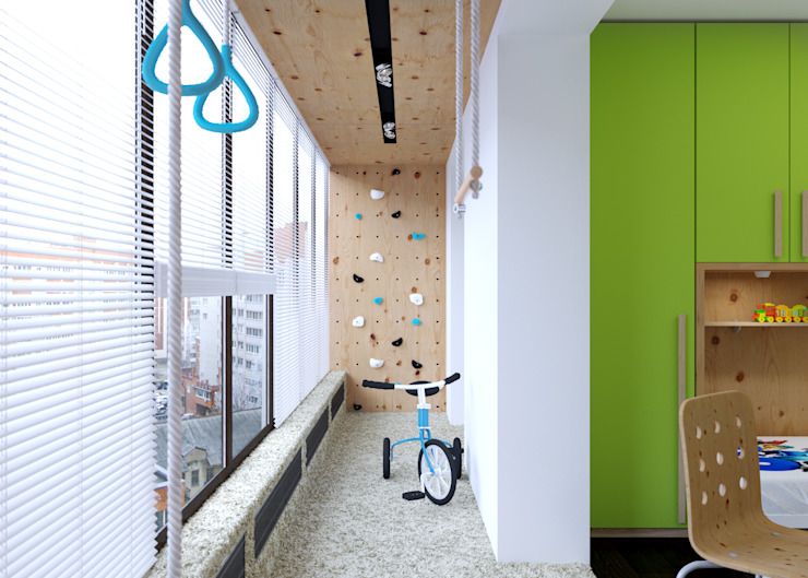 Спортивная Детская комнатa в стиле минимализм от 3D GROUP Минимализм