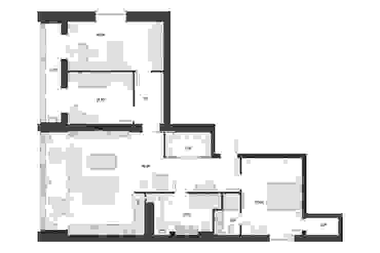 Планировочное решение с размещением мебели от 3D GROUP Минимализм