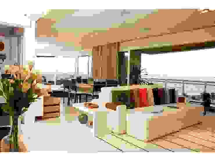 Salones de estilo moderno de LX Arquitetura Moderno