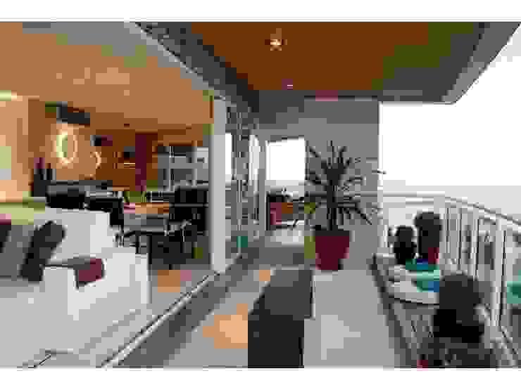 Balcon, Veranda & Terrasse modernes par LX Arquitetura Moderne