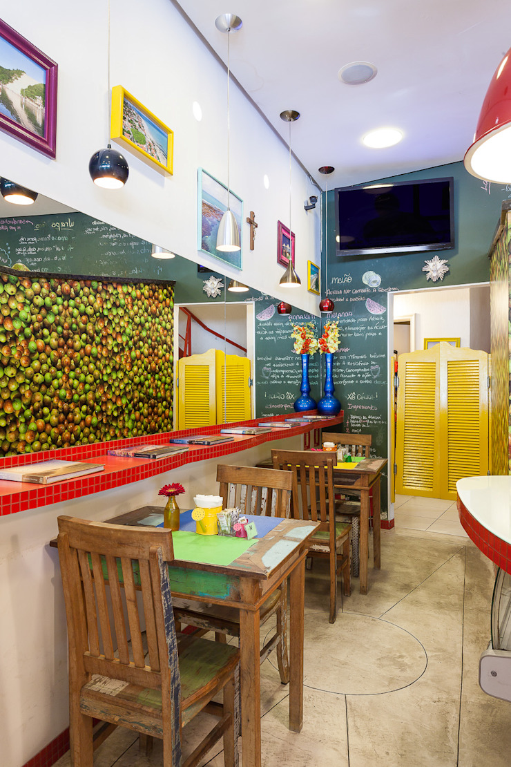 Restaurante Mangaba Espaços gastronômicos modernos por Figoli-Ravecca Arquitetos Associados Moderno
