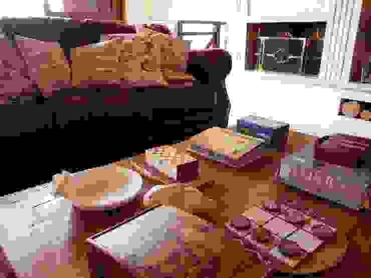 Sala da Lareira Salas de estar campestres por Eveline Sampaio Arquiteta e Designer de Interiores Campestre
