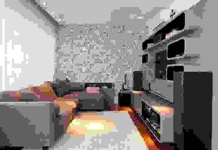 Salas multimedia modernas de Figoli-Ravecca Arquitetos Associados Moderno